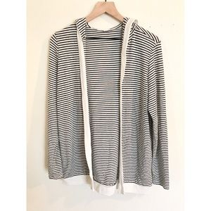 Hooded Striped Sweater - Honey Punch